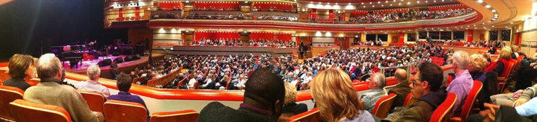 Photo of audience at Symphony Hall for Buena Vista Social Club