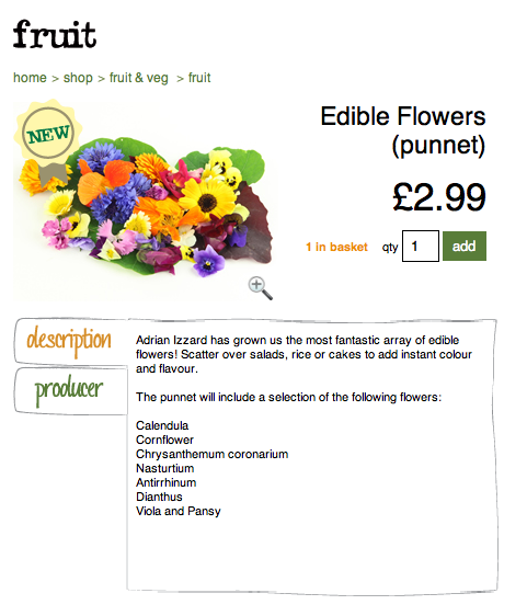 Edible Flowers for salad, rice or cake topping!