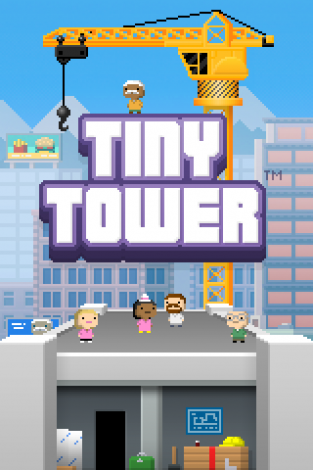 Screenshot of Tiny Tower's loading screen