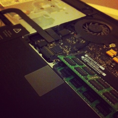 Brain surgery in progress. #ramUpgrade