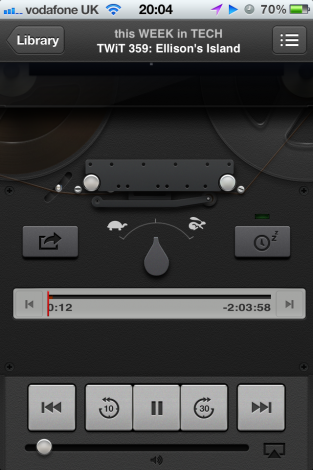 Liking the new podcasts app playback...