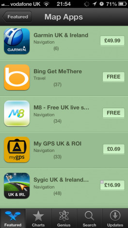 Apple is suggesting Bing maps as an...
