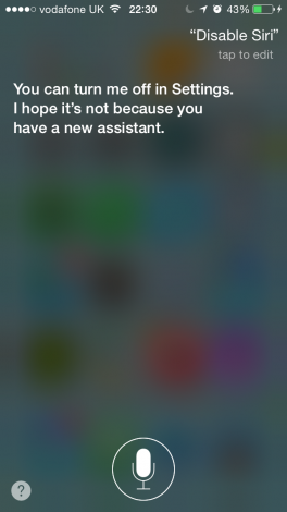 Siri getting insecure…