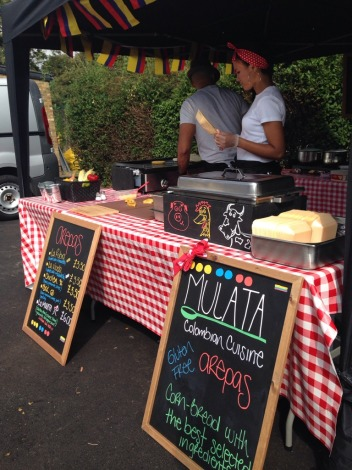 Tasty Colombian arepas by...